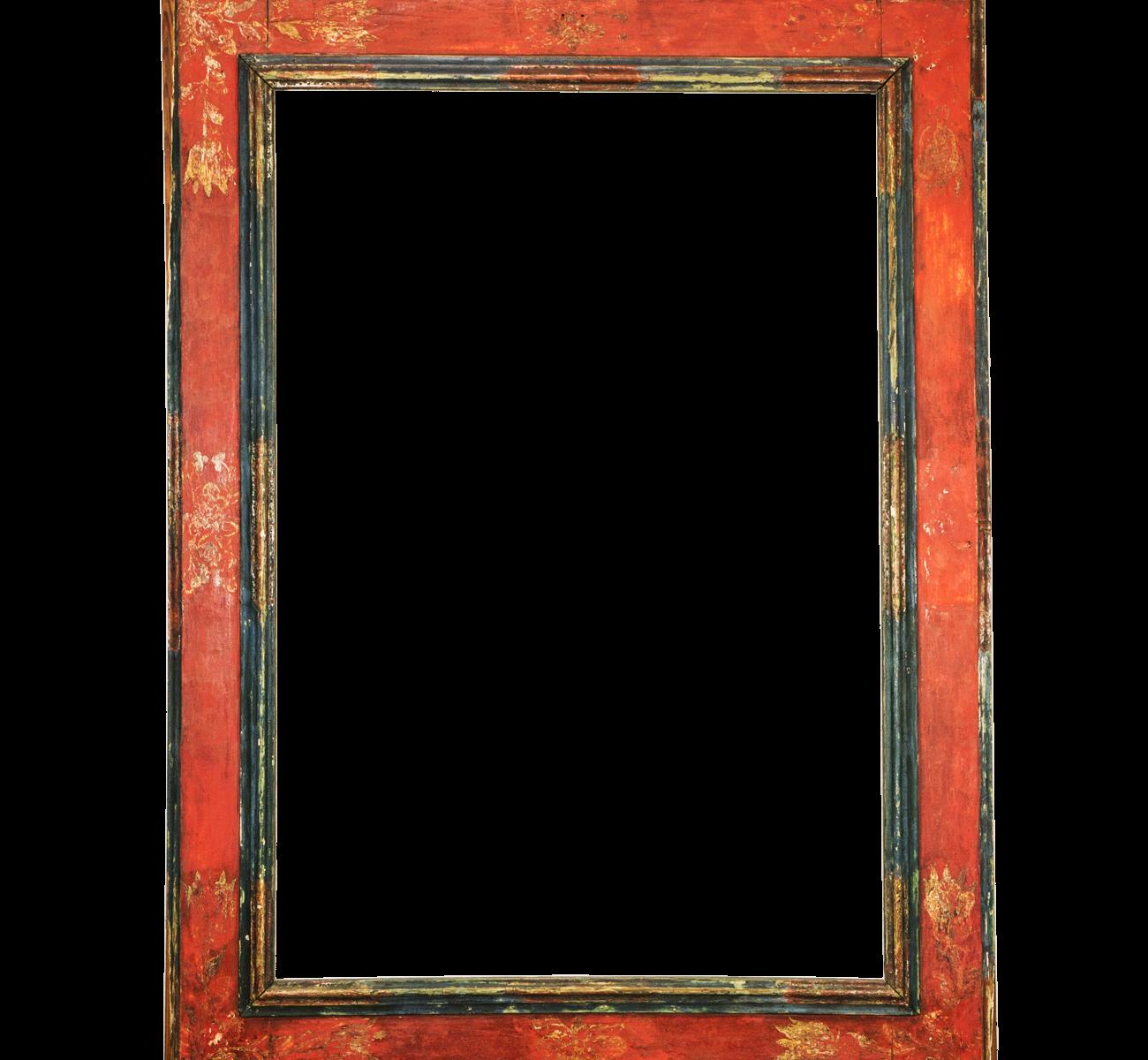 Roter Renaissance Rahmen