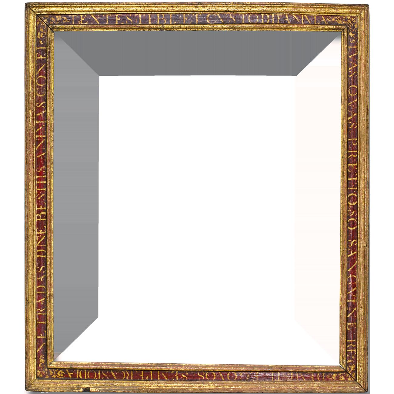 Beschrifteter Rahmen Antike Rahmen