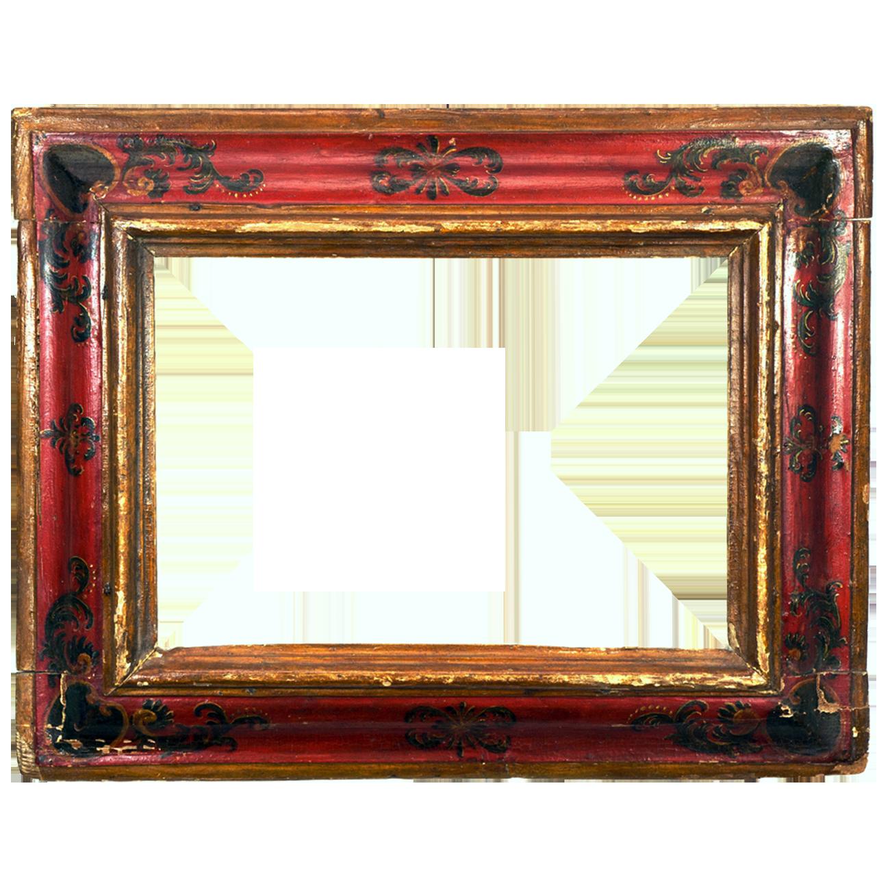 Roter Barockrahmen
