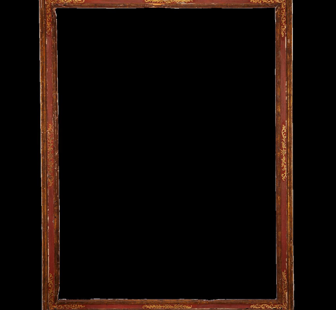 Roter Renaissance Rahmen - Antike Rahmen